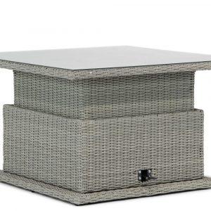 Garden Collections Brampton lounge/dining tafel new grey verstelbaar 120 x 120 cm
