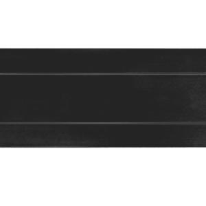 Hardbrass Briefplaat rechthoek geveerd 300x80mm - zwart