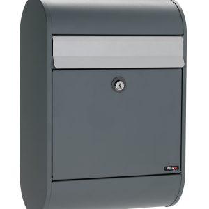 Brievenbus Allux 5000 antraciet met grijze klep