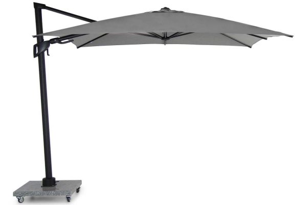 Santika Belize Deluxe parasol 300x300 antraciet frame/ mid grey