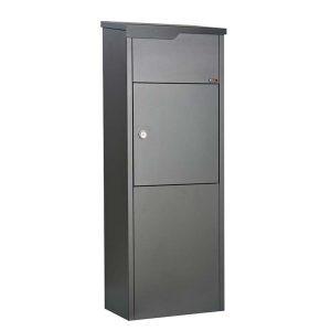 Pakketbrievenbus Allux 650 supreme antraciet/zwarte klep