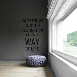 Tekststicker Happiness