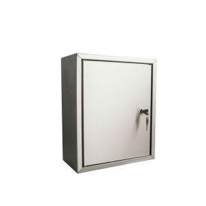 STOER! Post inbouwkast met deurtje - RVS 215mm
