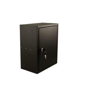 STOER! Post inbouwkast met deurtje - zwart 215mm